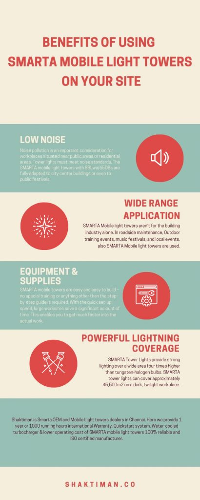 Benefits of using SMARTA Mobile Light Towers on your site